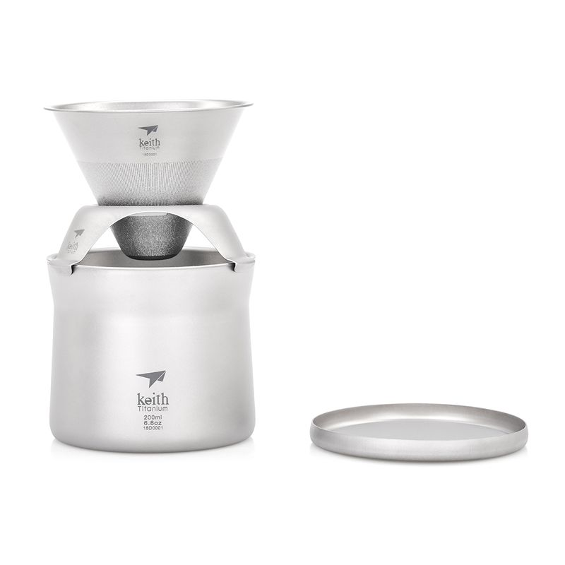KEITH TI3911 TITANIUM MINI COFFEE AND TEA MAKER