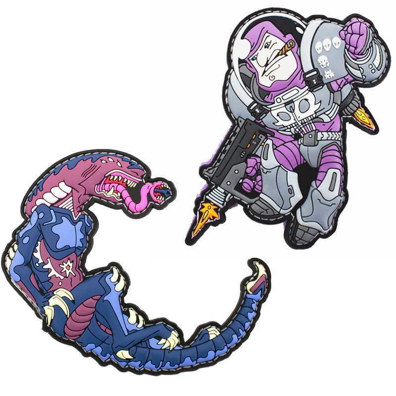 Space Force Marine Vs Alien Patch