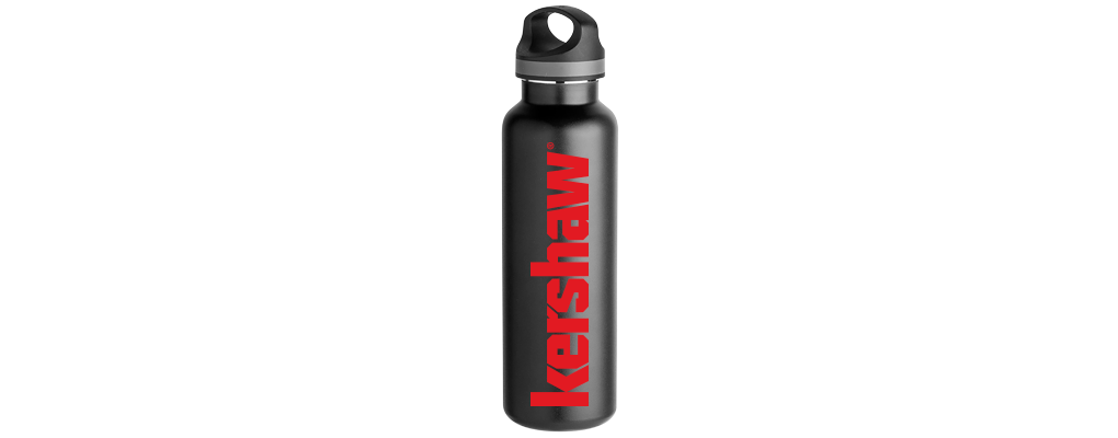 KERSHAW WATER BOTTLE – BLACK, INSULATED