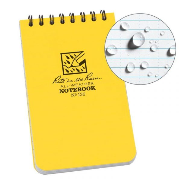 Sổ Tay Rite In The Rain 3×5 TOP SPIRAL NOTEBOOK N°135 – Yellow
