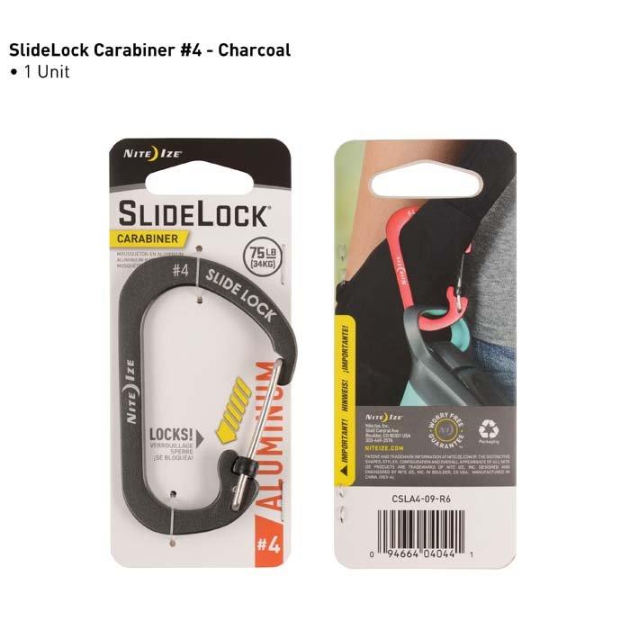 Móc Khóa Nite Ize SlideLock Carabiner #4 Coal