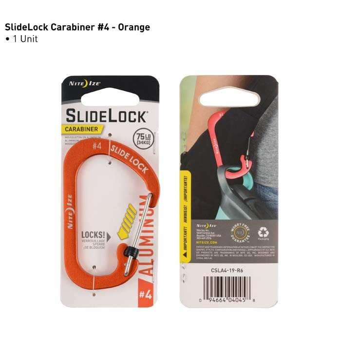 Móc Khóa Nite Ize SlideLock Carabiner #4 Orange