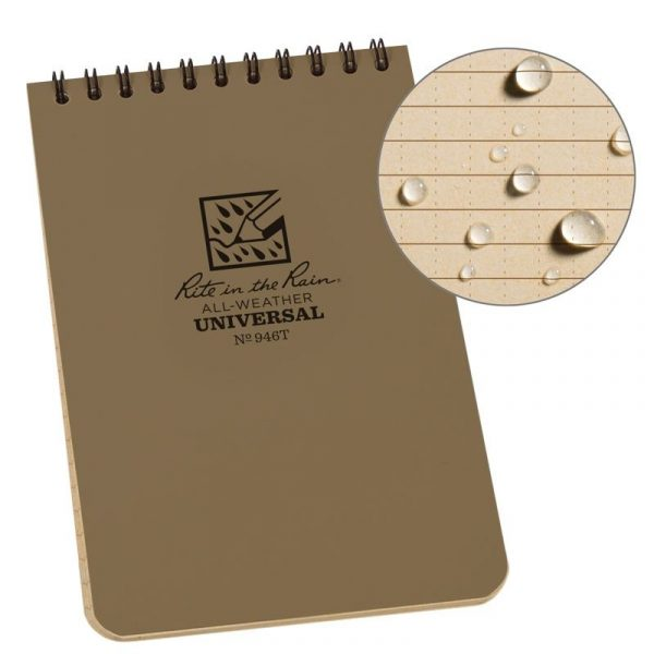 4 X 6 NOTEBOOK – TAN