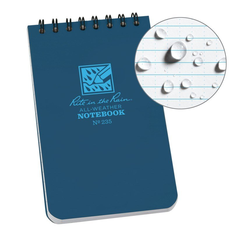 Sổ Tay Rite In The Rain 3×5 TOP SPIRAL NOTEBOOK – Blue