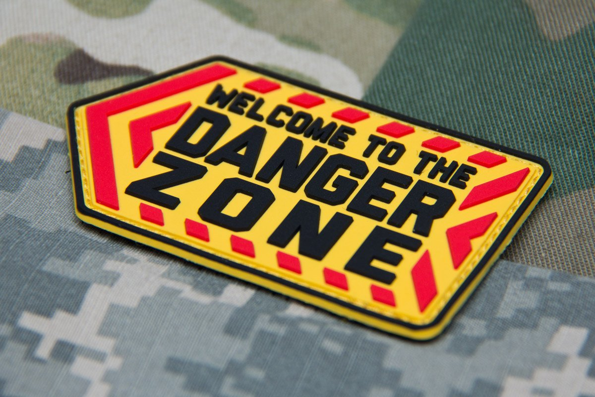 DANGER ZONE PVC MORALE PATCH