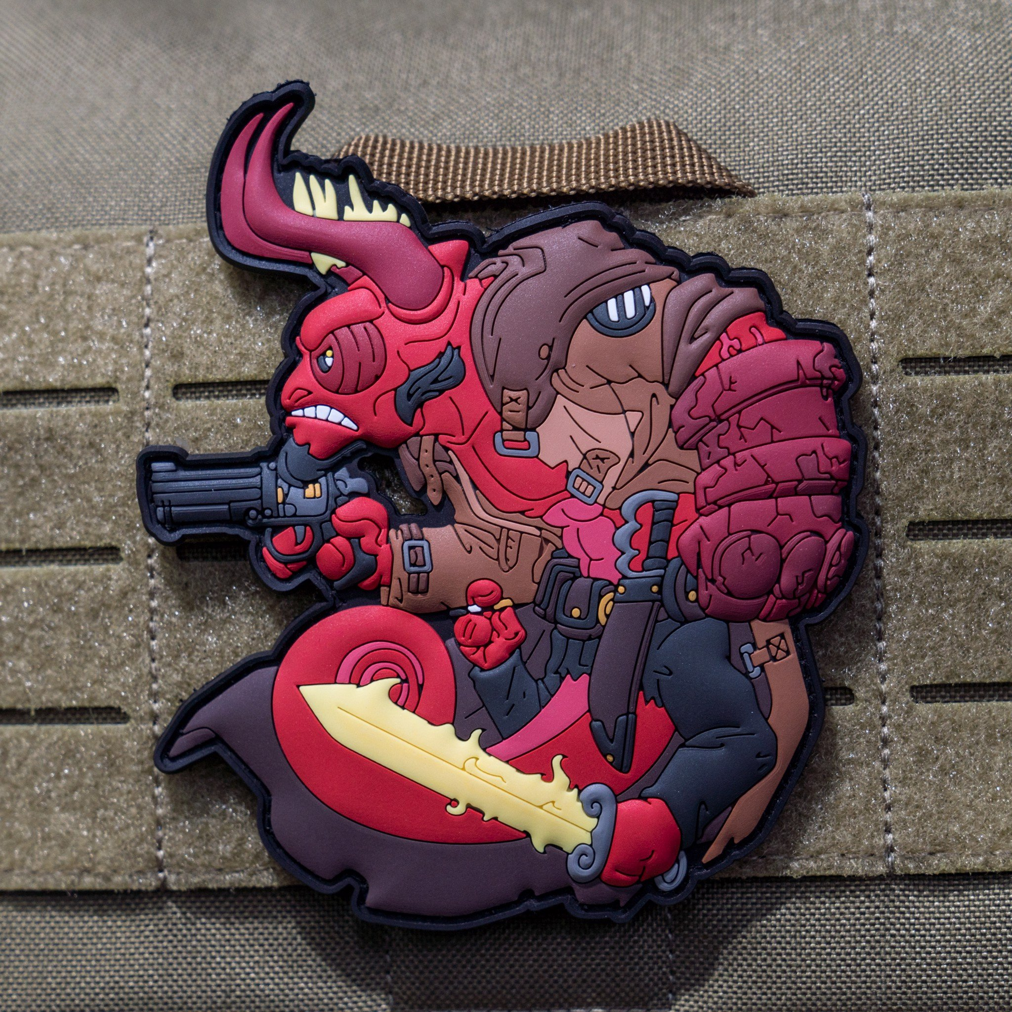 TACTICAL CHAMELEON RED PATCH