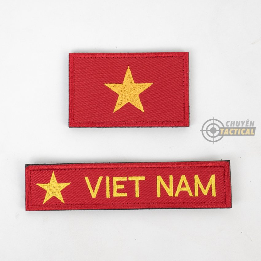 Set Vietnam Flag - Vải Thêu