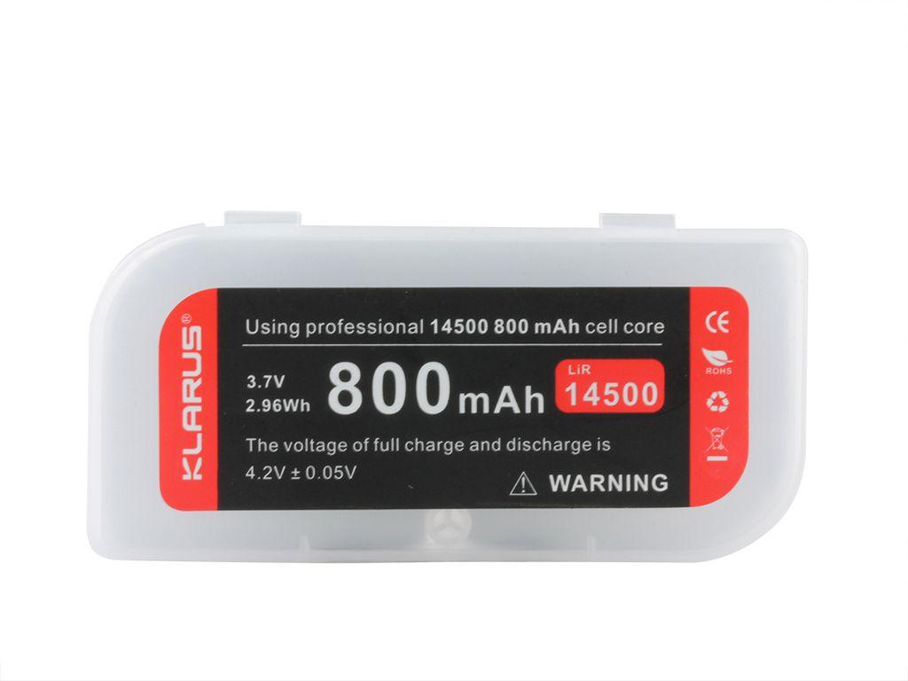 PIN SẠC KLARUS 14500 DUNG LƯỢNG 800MAH TÍCH HỢP CỔNG SẠC USB