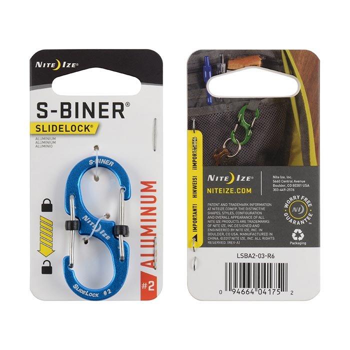Móc Khoá S-BINER® SLIDELOCK ® ALUMINUM  #2 – Blue