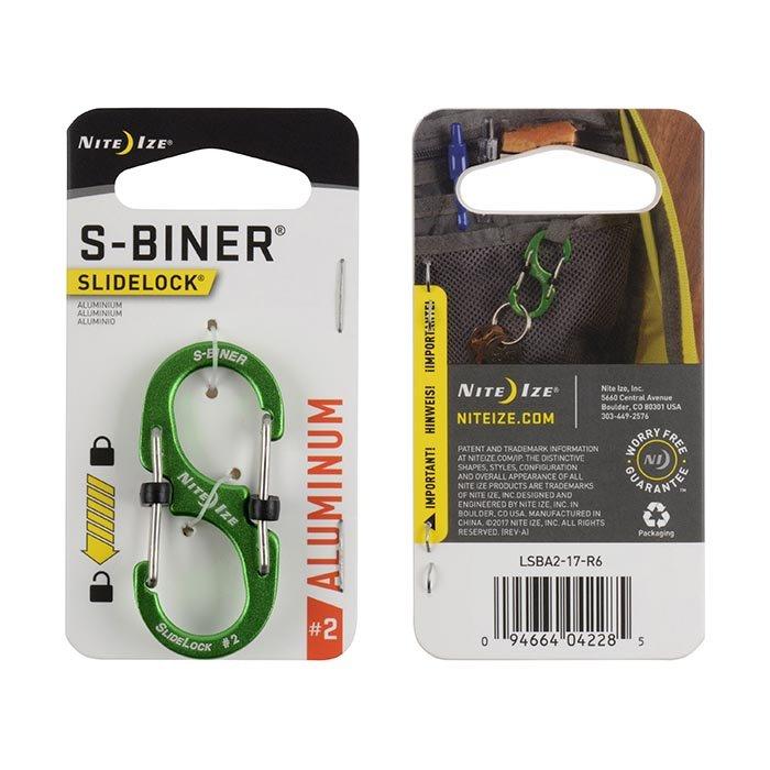 Móc Khoá S-BINER® SLIDELOCK ® ALUMINUM #2 – Lime