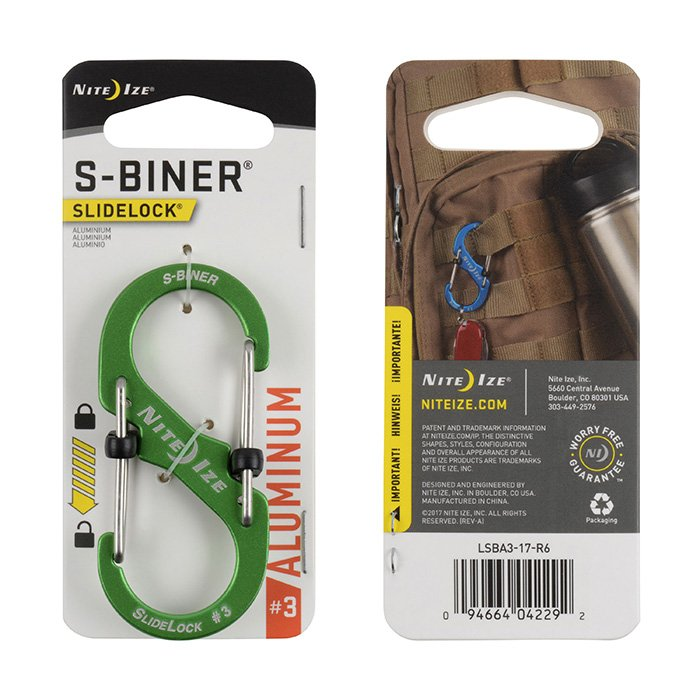 Móc Khoá S-BINER® SLIDELOCK ® ALUMINUM #3 – Lime