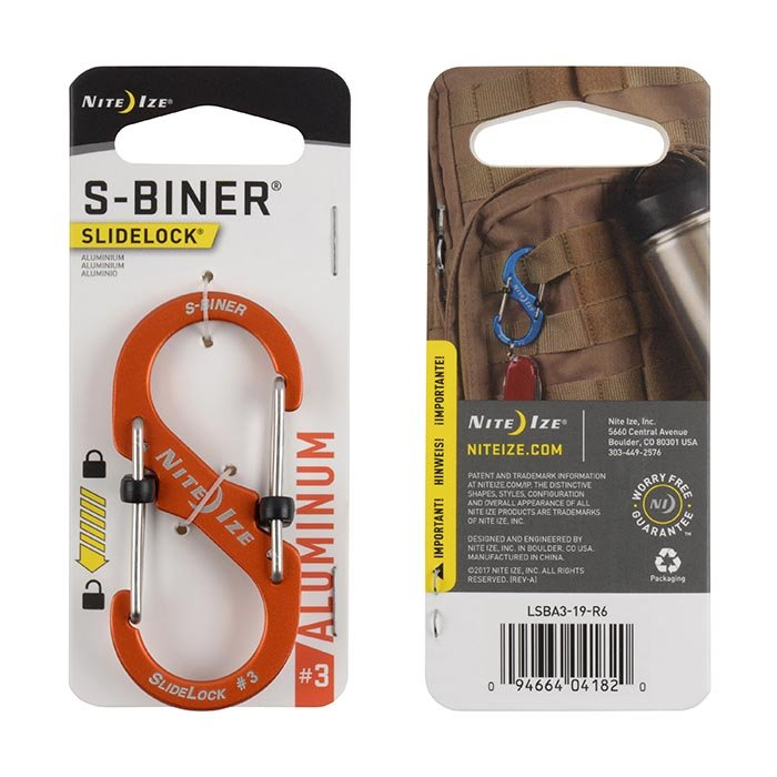 Móc Khoá S-BINER® SLIDELOCK® ALUMINUM #3 – Orange