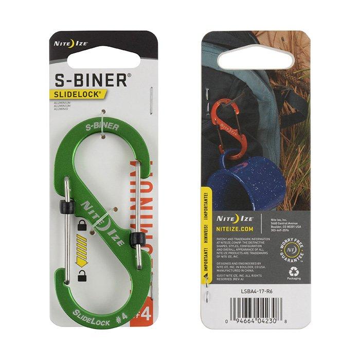 Móc Khoá S-BINER® SLIDELOCK® ALUMINUM  #4 – Lime