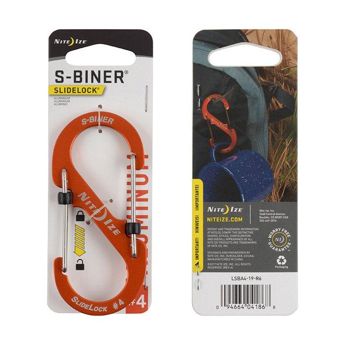 Móc Khoá S-BINER® SLIDELOCK® ALUMINUM #4 – Orange