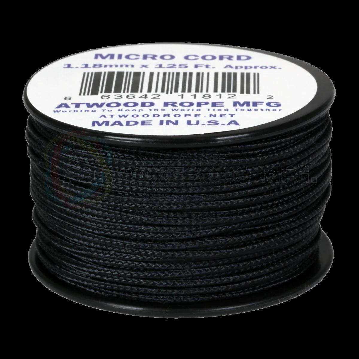 Dụng cụ đi phượt Dây Micro Cord 1.18mm – 100ft – Black