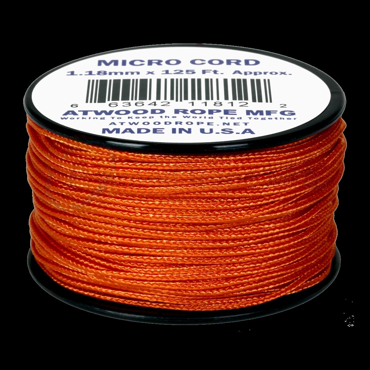 Dụng cụ phượt Dây Micro Cord 1.18mm – 100ft – Brunt Orange