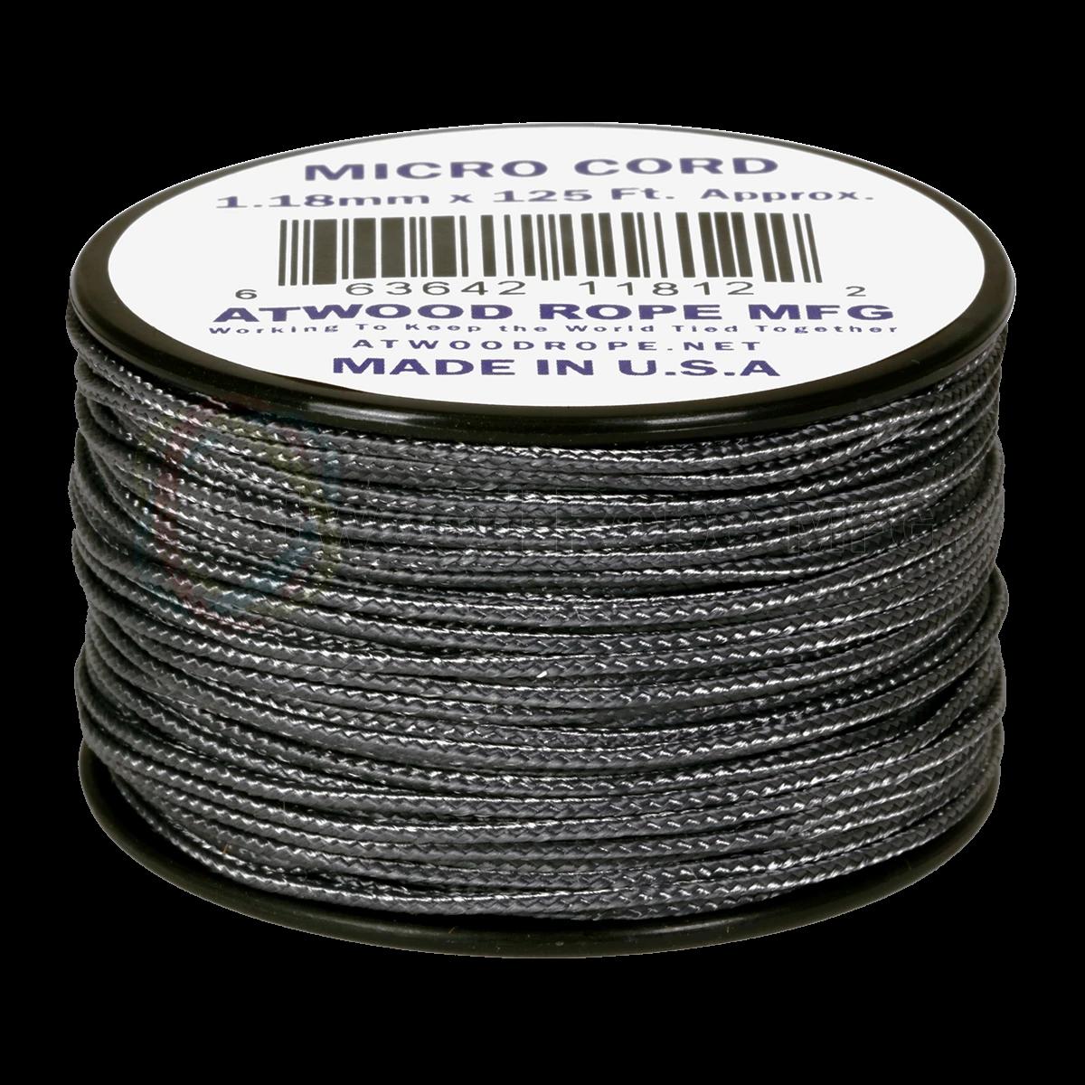 Dụng cụ phượt Dây Micro Cord 1.18mm – 100ft – Graphite