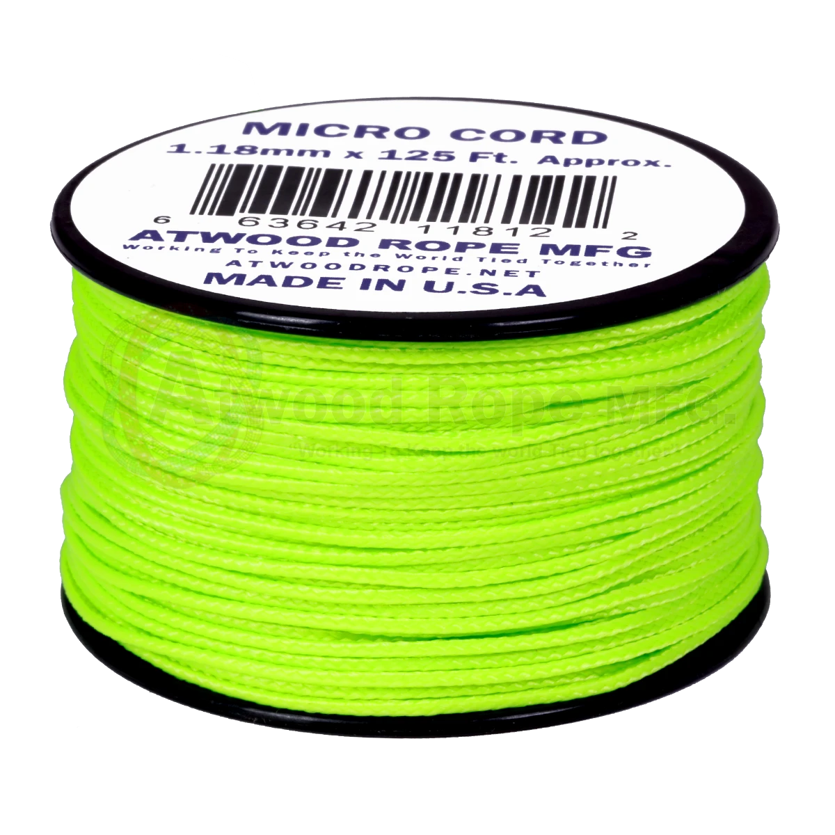 Dây Micro Cord 1.18mm – 100ft – Neon Green