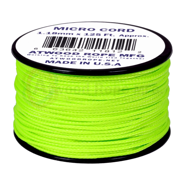 Dụng cụ du lịch Dây Micro Cord 1.18mm – 100ft – Neon Green
