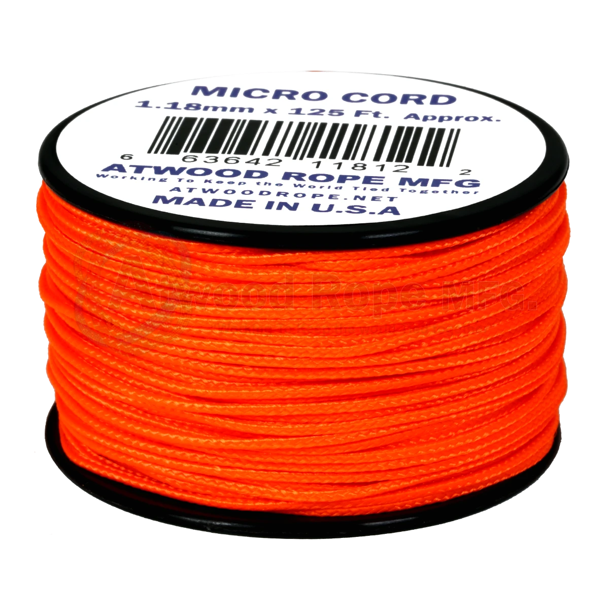 Dây Micro Cord 1.18mm – 100ft – Neon Orange