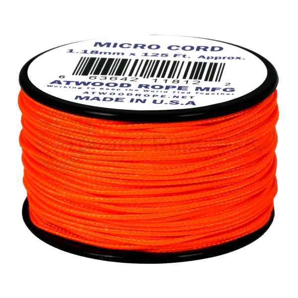 Dụng cụ du lịch Dây Micro Cord 1.18mm – 100ft – Neon Orange