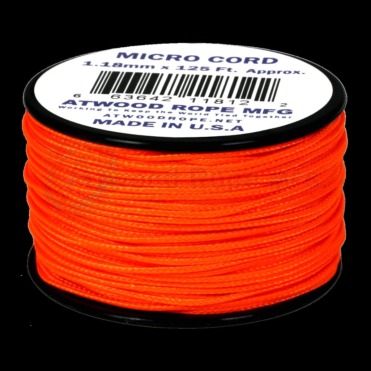 Dụng cụ du lịch Dây Micro Cord 1.18mm – 100ft – Neon Orange