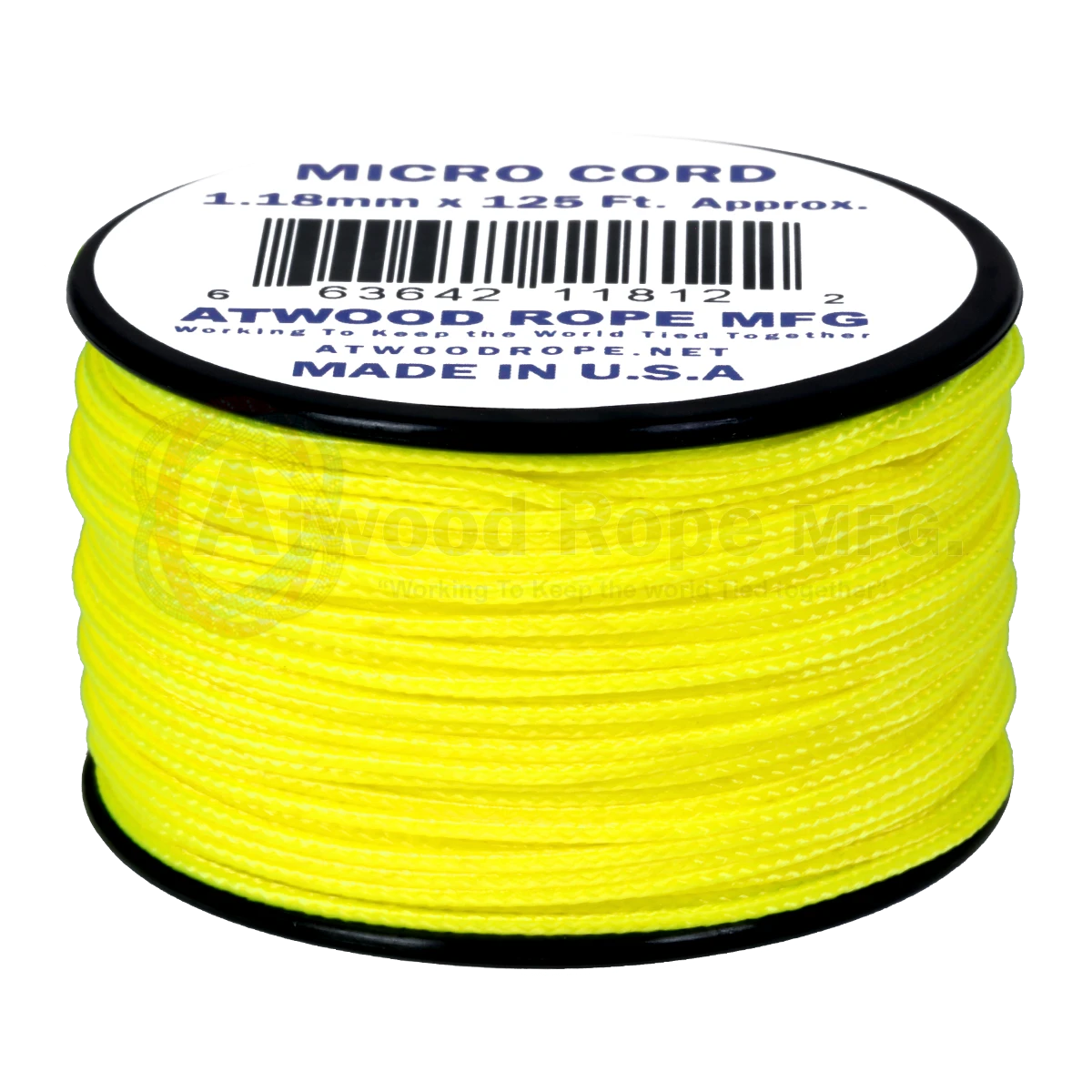 Dây Micro Cord 1.18mm – 100ft – Neon Yellow