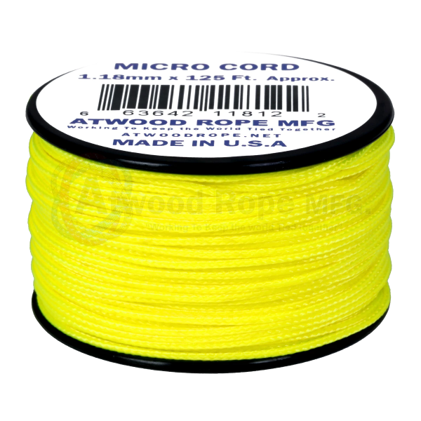 Dụng cụ du lịch Dây Micro Cord 1.18mm – 100ft – Neon Yellow