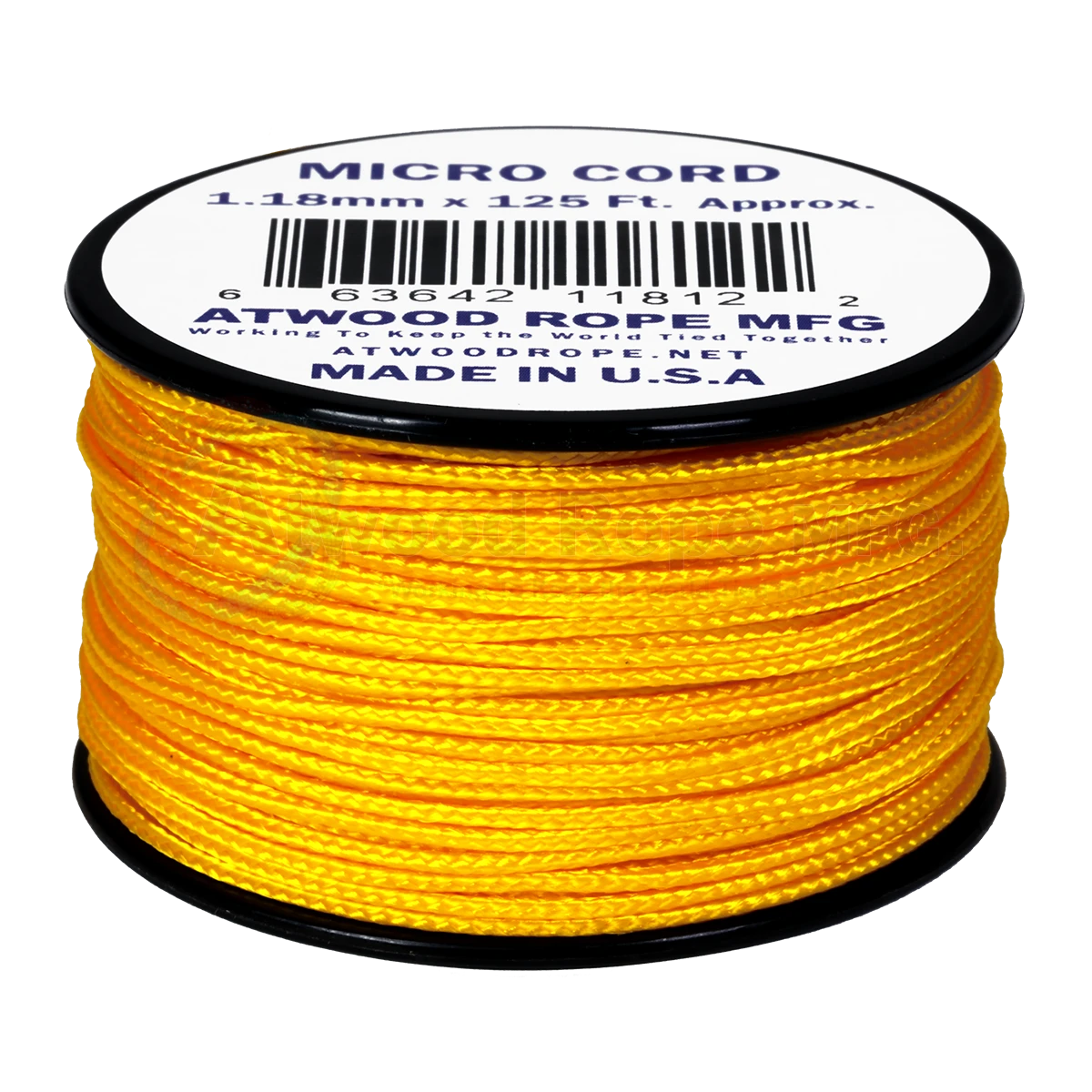 Dây Micro Cord 1.18mm – 100ft – Yellow