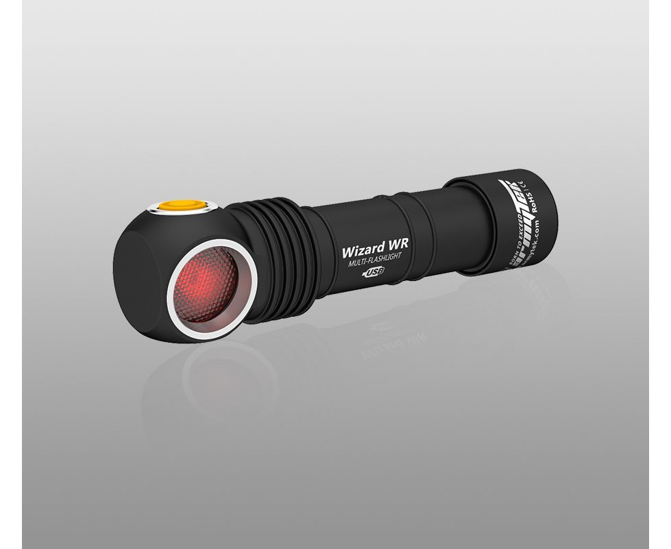 Đèn Pin Armytek WIZARD WR MAGNET USB – (WARM/RED LIGHT)