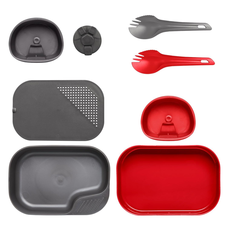 Wildo® CAMP-A-BOX® Duo Complete – Red / Dark Grey A