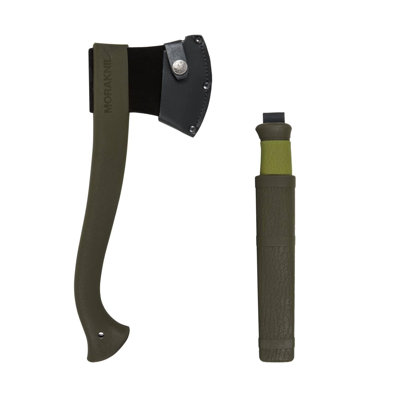 MORAKNIV® AXE & KNIFE OUTDOOR KIT - Olive Green