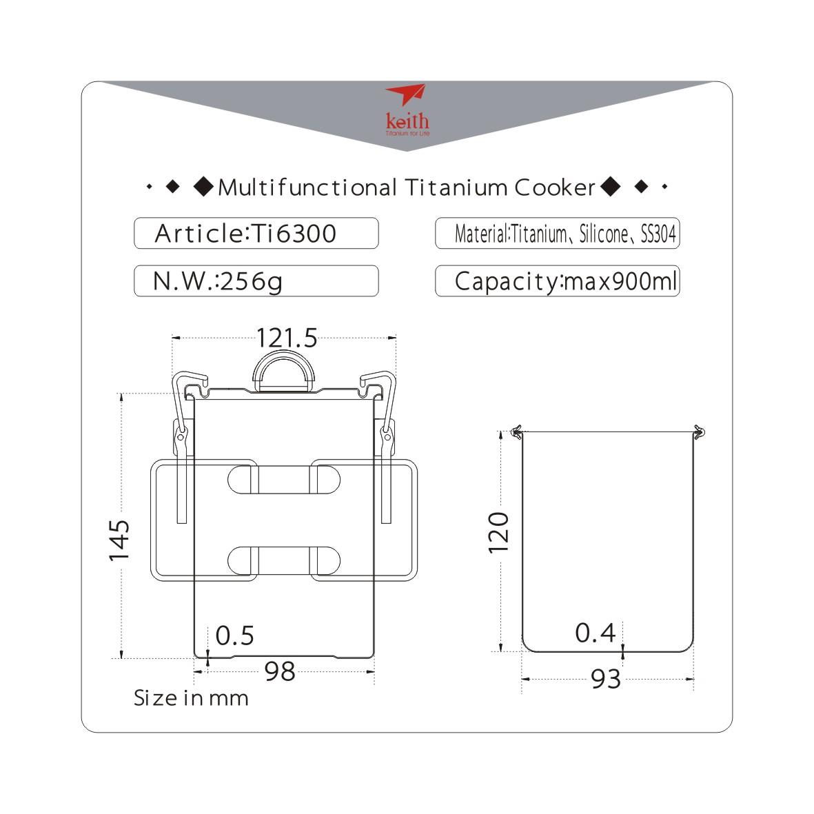 KEITH TI6300 – Nồi Áp Suất Đa Năng Titanium