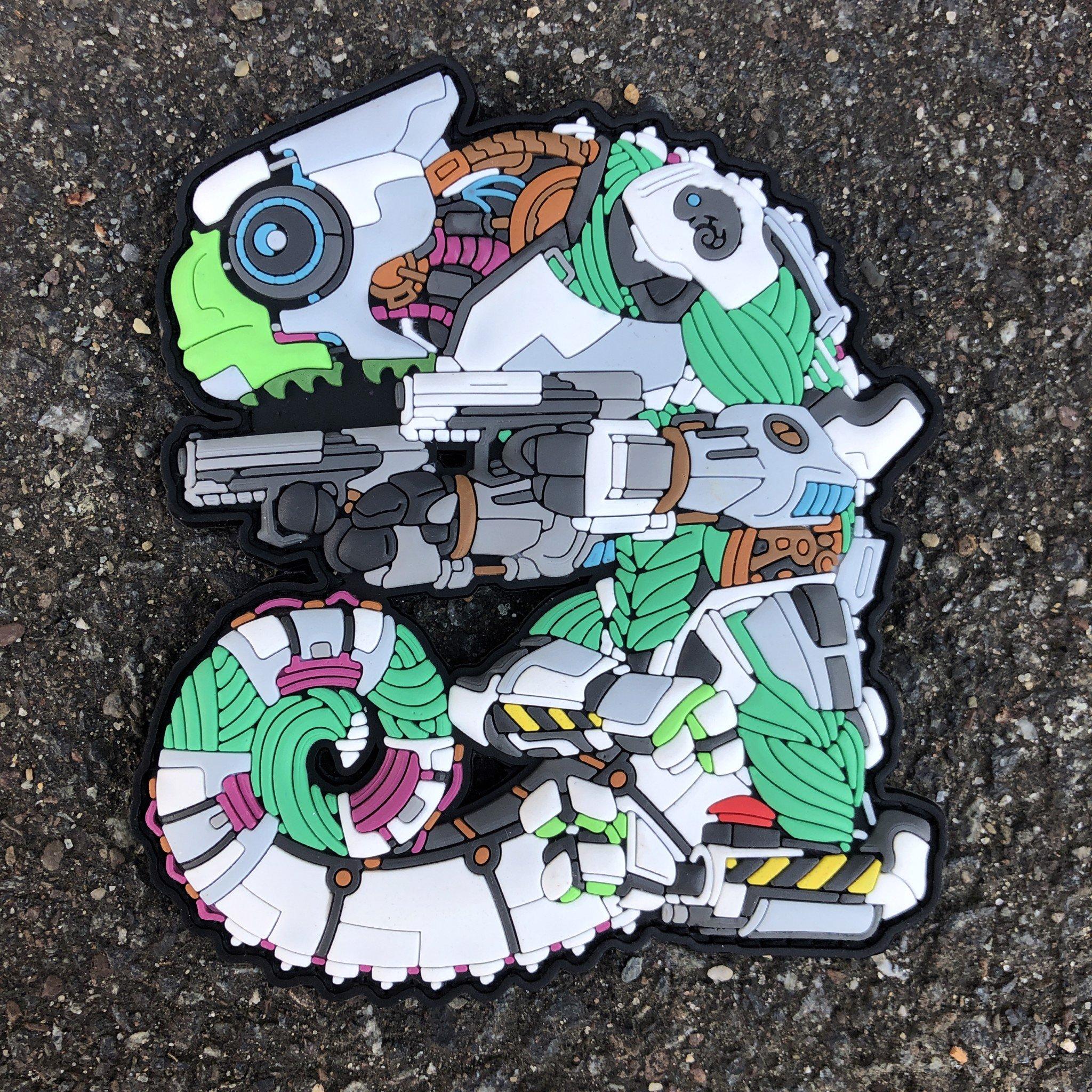Tacopsgear Chameleon Legion Cham Cyborg BORG THE SHELL patch