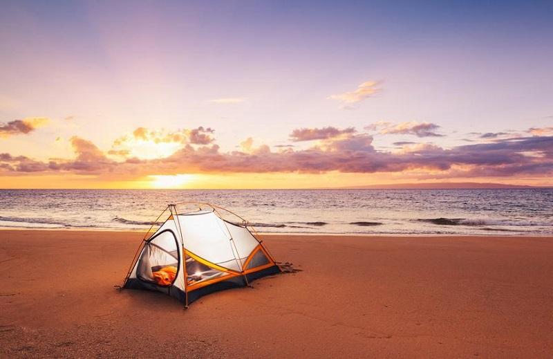 Bãi biển cho camping