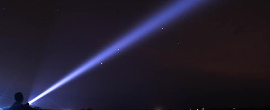 Đèn pin có tầm chiếu xa là bao nhiêu