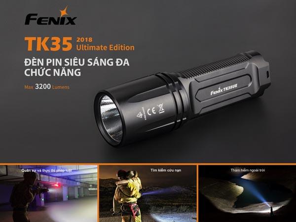 Đèn pin sáng nhất Fenix TK35UE