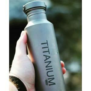 Vargo Titanium Water Bottle with Ti Lid