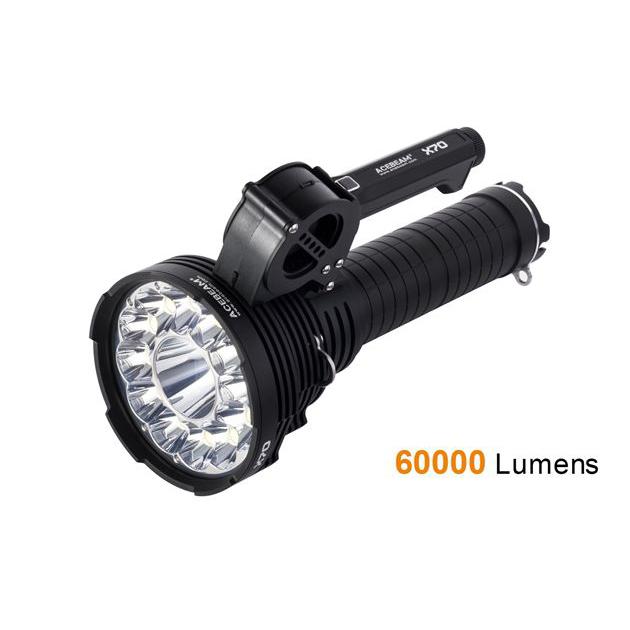 ACEBEAM X70 – Siêu đèn pin 60000 lumen chiếu xa 1150m