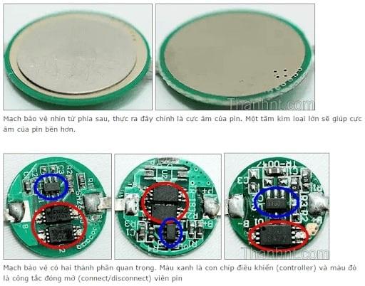 bộ phận bảo vệ pin
