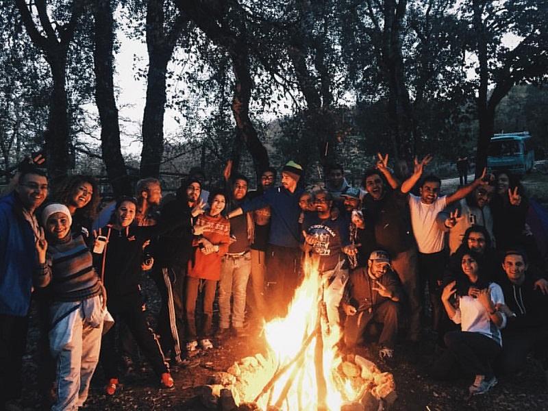 buổi camping của bạn trẻ