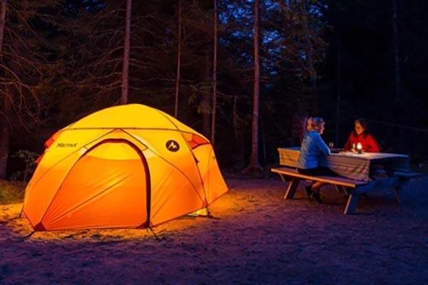 cách dựng lều đốt lửa trại đơn giản