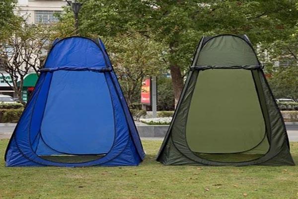 cách dựng lều thay đồ nhỏ gọn