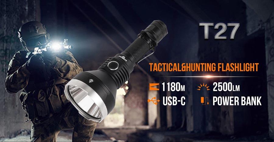 đèn pin ACEBEAM T27 trong nghiệp vụ cảnh sát