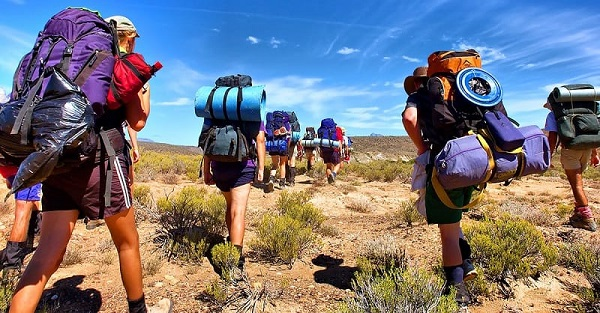 go hiking meaning