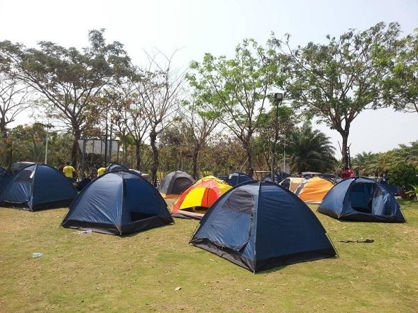 khu cắm trại gần sài gòn