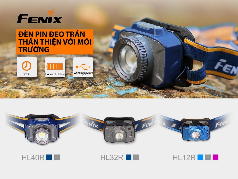 Đèn pin sạc đội đầu Fenix