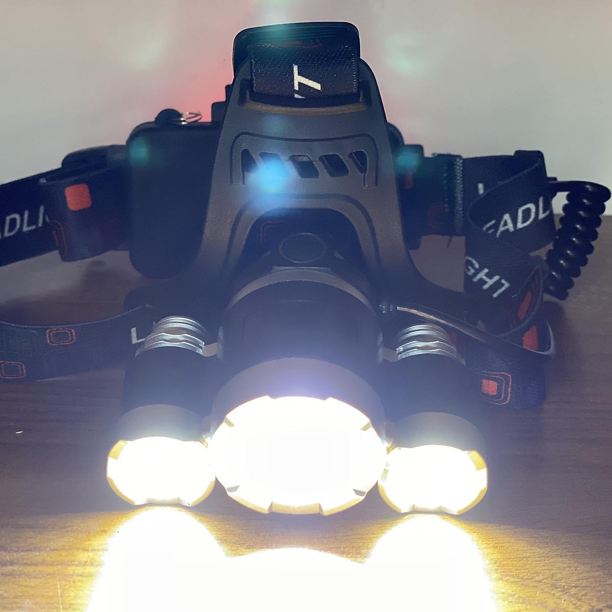 Đèn Pin Đội Đầu 3 Bóng Led+ 4 Chức năng Essesa