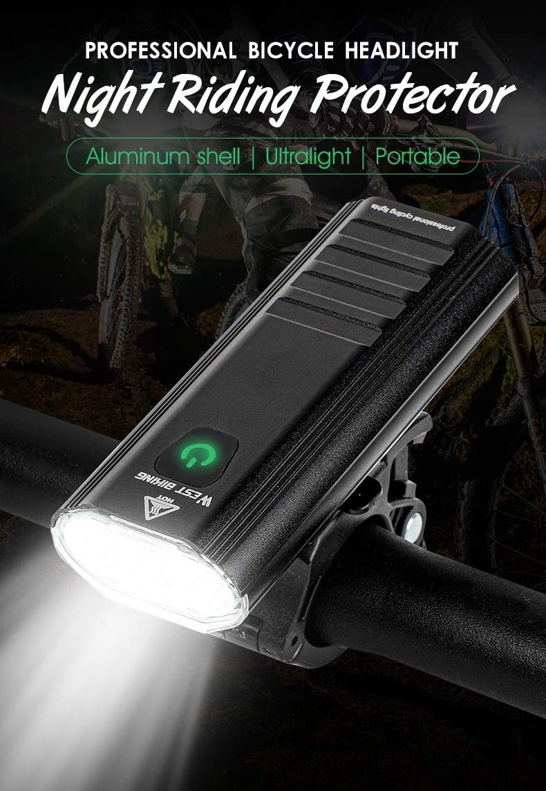 Đèn pin xe đạp LED West Biking Bike 3 T6 1200Lumen