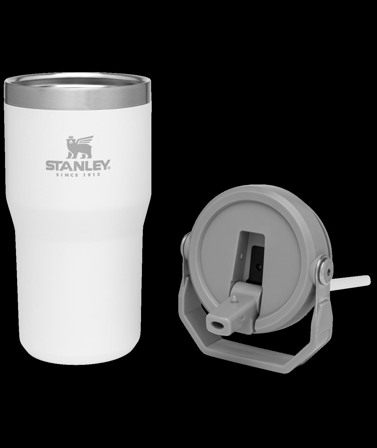 Bình Stanley Iceflow™ Flip Straw Tumbler | 20 oz - Màu Polar White